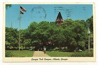 1950's 1960's Georgia Tech Campus College Atlanta Street View Vintage Postcard