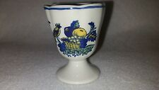 Spode Blue Bird Egg Cup England Very old hand stamped stemmed