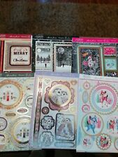 CRAFT ROOM CLEAROUT, X6 HUNKYDORY CHRISTMAS CARD MAKING KITS