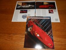 1991 PONTIAC FIREBIRD TRANS AM, FORMULA, GTA ORIGINAL BROCHURE / 91 CATALOG