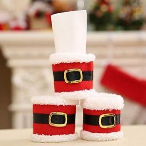 Santa Napkin Ring Holder Cutlery for Christmas Dinner Table - 6pcs