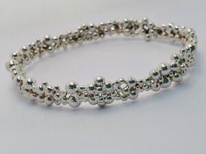 Genuine Links of London Effervescence Bangle Cuff Bracelet, Silver