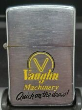 1950 VAUGHN MACHINERY QUICK ON THE DRAW ZIPPO LIGHTER 2032695 WILL SPARK W/FLINT