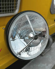 Classic Car Lotus Caterham Complete Black Headlight 7 Inch Headlamp, Rim & Loom