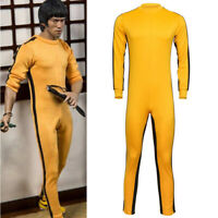 Bruce Lee Classic Game Of Death Costume Kung Fu Yellow Jumpsuit Uniform Vintage