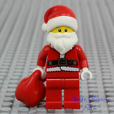 NEW Lego Christmas SANTA CLAUS MINIFIG -Red Present Sack White Beard Minifigure