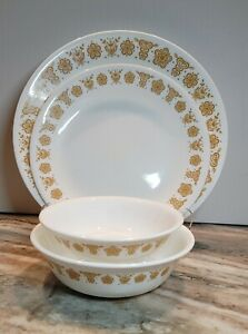 38 Pieces Vntg Corning/Corelle Butterfly Gold Dinnerware Warn But Not Warn Out!