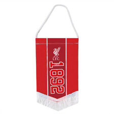 LIVERPOOL FC ESTABLISHED SINCE MINI PENNANT WITH TASSLES CAR FLAG NEW XMAS GIFT