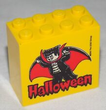 ** LEGO Halloween promotionnel Brique 2x4x3 Dracula Vampire 30144pb091 **