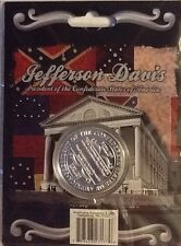 CIVIL WAR CSA CONFEDERATE STATES OF AMERICA  JEFFERSON DAVIS PRESIDENT COIN 177
