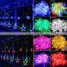 Curtain Lights 138 LED Stars Window Fairy String Wedding Party Xmas Home Lamp