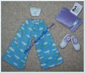 BRATZ MGA DOLL CLOTHING FASHION PACK PAJAMA POWER : 2001 : 5 PIECES + SLIPPERS