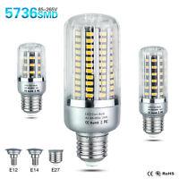 E27 E14 E12 Led Bulb 5736SMD Light Bulbs 5/10/15/20/25W Corn Lamps 110V/220V
