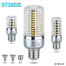 E27 E14 E12 Led Light Bulb 5736SMD 5W 10W 15W 20W 25W Corn Lamps AC110V/220V