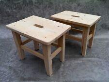Set x2 Solid Wood Step Stool Untreated Eco Wood