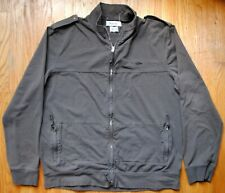 Roots Zip Up Jacket w/ Epaulets in Dark Gray Size XL 100% Cotton