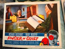 Finger Of Guilt 1956 RKO crime lobby card Richard Basehart Constance Cummings