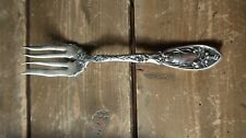 """Antique 1908 Narcissus by Oxford Silverplate Solid Cold Meat Fork 8.25"""""""