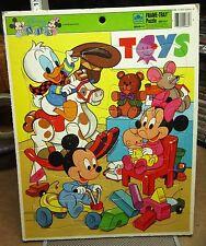 DISNEY BABIES frame puzzle Walt cartoon Donald Duck toy-room tray Mickey 1980s