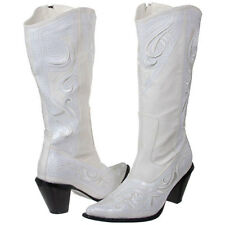 Ladies Western Wedding White Formal Sequin Cowboy Boot (Size 6-12)