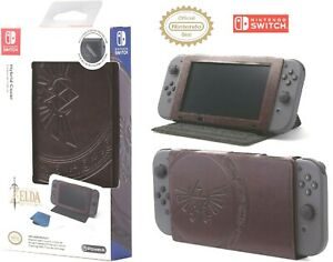 Nintendo Switch Case and Stand Zelda Hylian Crest Leatherette Licensed Nintendo