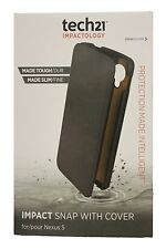 Tech21 D3O Impact Snap with Cover for Nexus 5 - Black - New + screen protector