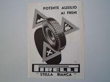 advertising Pubblicità 1938 PNEUMATICI PIRELLI STELLA BIANCA