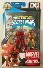 """Marvel Universe 3 3/4"""" HUMAN TORCH vs WOLVERINE Action Figure 2 Pack Comic"""