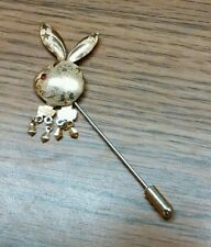 "Vintage Playboy Tie or Lapel Pin. Airbrushed, Jeweled Eye, ""Love"", Awesome!"