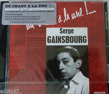 ♫ CD DU CHANT A LA UNE SERGE GAINSBOURG RE-MASTERING 24 bit masters originaux ♫
