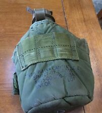 army issue olive drag plastic canteen w/ insulated Fabric cover Soldiers Water