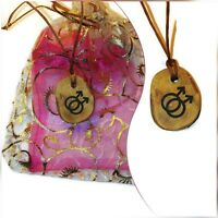 Homosexual Gay Sexuality Symbol Necklace Handmade Wood Engraved Personalised