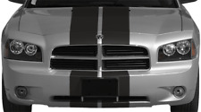 Dual Rally Racing Vinyl Graphics Decals Stripes for Dodge Charger 2006 to 2010