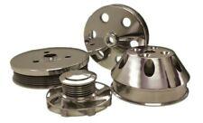 Sbc 350 Short Water Pump Serpentine Polished Aluminum Pulley Kit