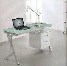 Bureaux et tables d'ordinateur blancs en verre pour la maison