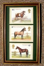 THREE DELIGHTFUL VINTAGE POST OFFICE HORSE CARD PRINTS FROM A 1978 STAMP DESIGNS