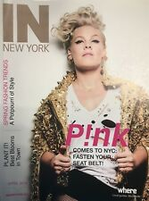 Singer PINK on the cover NEW YORK magazine mint condition