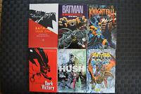 BATMAN TPB Lot of 6 Books NM - KINGHTFALL #1-2 YEAR ONE HUSH DARK VICTORY ODYSS