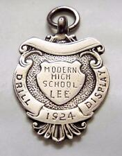 TRAPANO Display-LEE moderne High School - 1924 Marchiato Argento Sterling MEDAGLIA