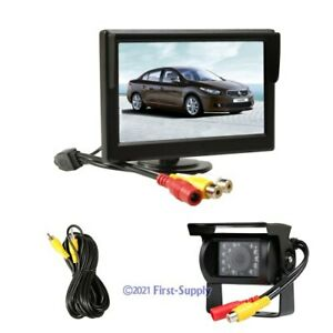 """Safety Reversing Systems with 5"""" Color Monitor and Waterproof Camera"""