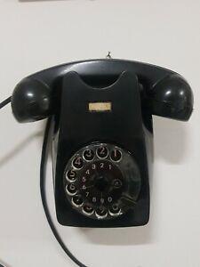 Telefono a Muro a Disco AUSO SIEMENS S62 Bachelite Anni 60 Lino Saltini FUNZIONA