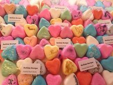 12 Assorted Wedding Favour Heart Bath Bombs - Birthday/Christmas Gifts