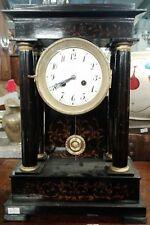 Orologio Napoleone III legno ebanizzato cm 40x27x13 Antikidea