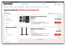 Definitive Technology D11 High-Performance Speakers & ST1 Speaker Stand (Sealed)