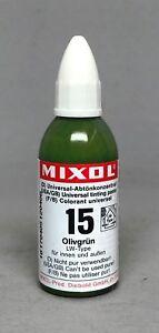 Mixol #15 OLIVE GREEN Universal Tint 20ml Bottle FREE SHIP