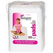 Swisspers Premium Cotton Facial Cleansing Pad, 50 ct