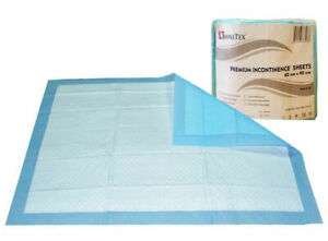 60x90cm Omnitex PREMIUM Incontinence Bed Sheets / Pads (Pack of 50)