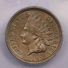 1862-P 1862 Indian Cent 1c ICG AU58