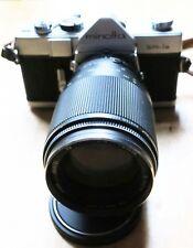 Minolta SR-1s chrome camera body with Sigma Minitel 200mm f1:4 Lens