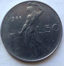 Italy 1966 50 Lire coin